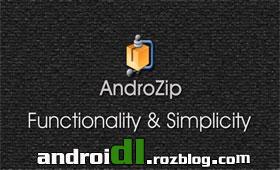مدیریت فایل با  AndroZip File Manager